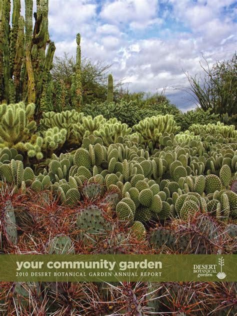 Desert Botanical Garden Membership Desert Botanical Garden 2010 Annual Report By Desert Botanical Garden
