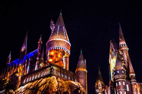 universal studios hollywood light show lumos see hogwarts light up at new universal studios