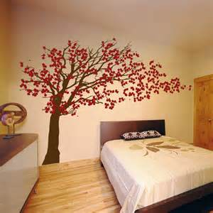 Cherry Blossom Tree Wall Sticker cherry blossom tree blowing in the wind wall decal sticker graphic