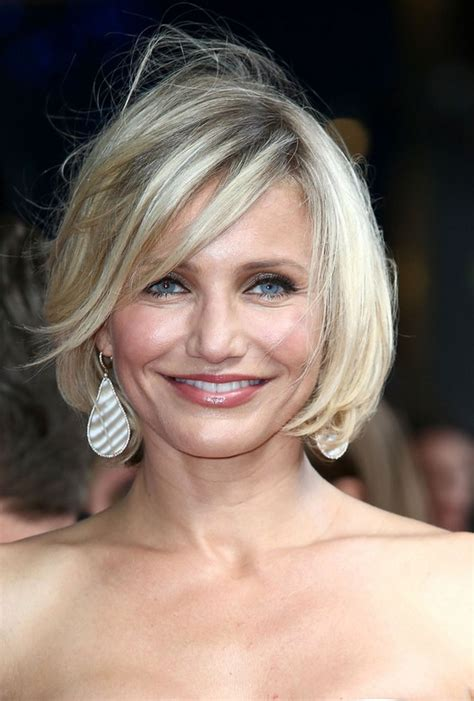 hairstyles cameron diaz bob cameron diaz choppy bob hairstyle with bangs styles weekly