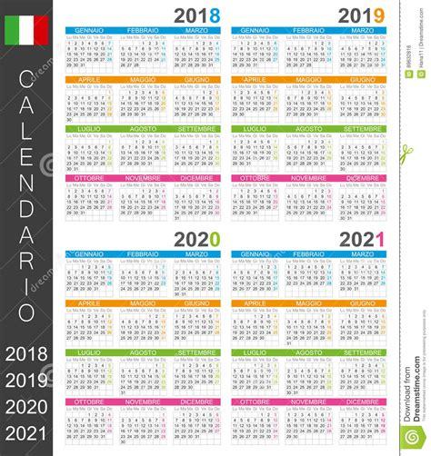 Kalender 2018 Med Uger Kalender 2018 2021 Vector Illustratie Afbeelding 89632816