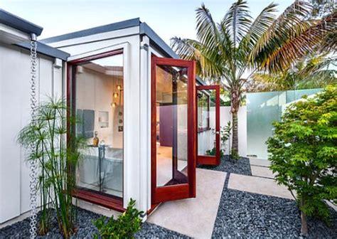 desain rumah open plan ide desain eksterior rumah dengan taman minimalis