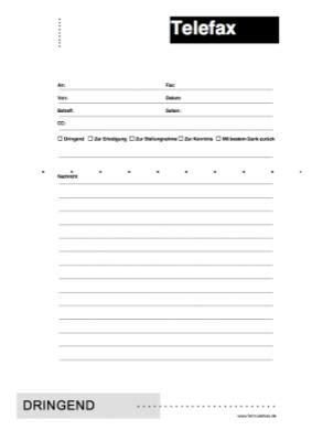 faxvorlage faxformular vorlage muster zum ausdrucken