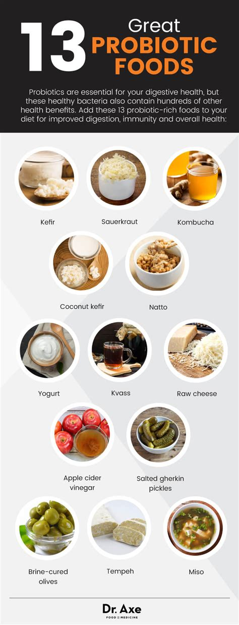 food with probiotics 8 greatest probiotic foods you should be dr axe