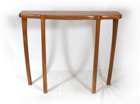 bench tables bowfront entryway table e c connor sculptural