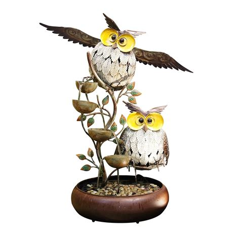 Garden And Pond Depot by 31 Metal Tiering Owl Garden And Pond Depot