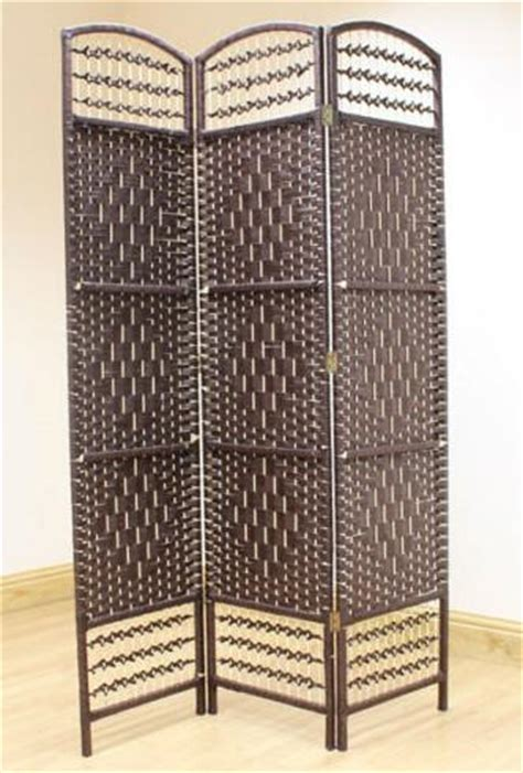 Rattan Room Divider Wicker Room Divider Screen Brown 3 Panel Room Dividers Uk