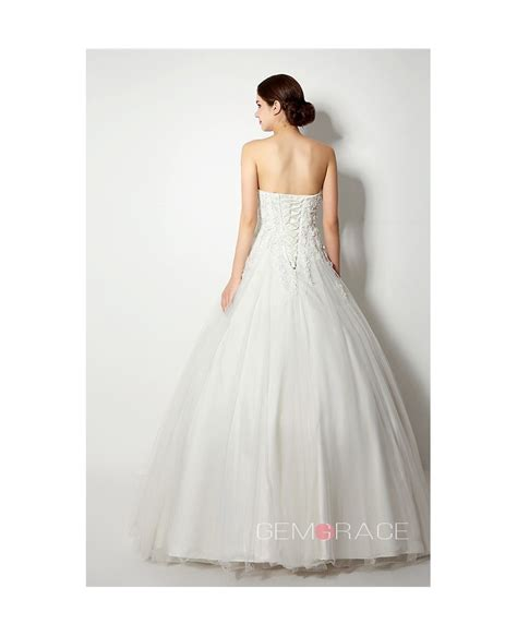Floor Length Wedding Dress by Gown Strapless Floor Length Wedding Dress C38262