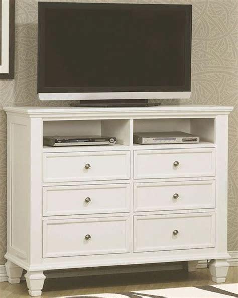 sale 2130 00 sandy beach 5 pc white bedroom set coaster sandy beach media chest white co 201306