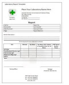 lab report template writing word excel format