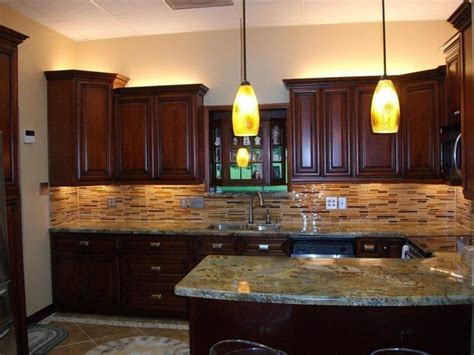kitchen ideas cherry cabinets cherry rope kitchen cabinets home design traditional