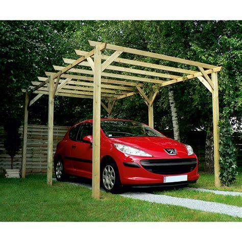 3 Car Garage Plans by Carport Bois Maranello 1 Voiture 15 M 178 Leroy Merlin