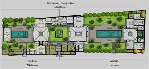 3 Bedroom Villa Floor Plans floorplan villa bali samuan