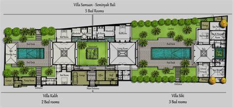 3 Bedroom House Designs Pictures by Floorplan Villa Bali Samuan