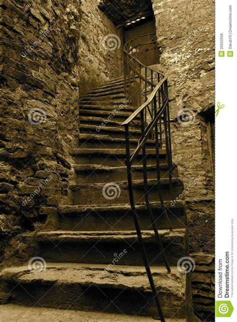 stairs stock image image  monotone broken house