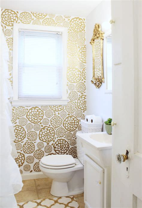 glam bathroom gold glam bathroom makeover