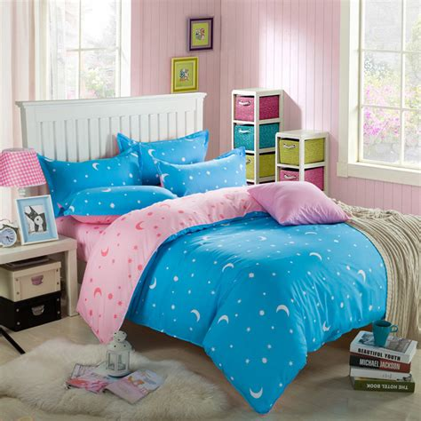 bedding sales 2016 brand on sale 100 cotton blue moon king queen twin