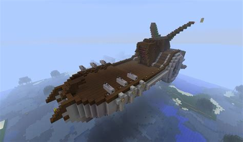 flying boat minecraft flying ship minecraft project