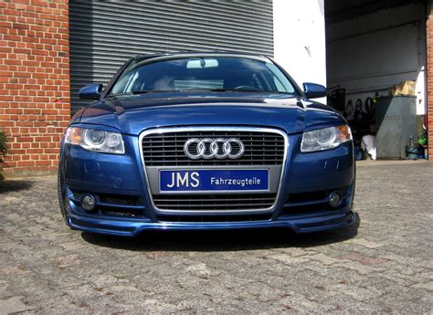 jms audi a4 front lip kit spoiler car tuning