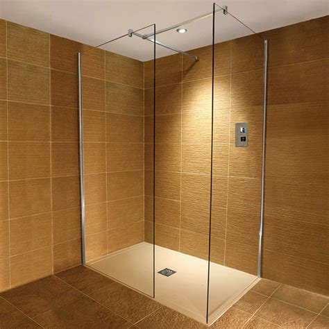 Shower Doors Direct Traymate 10mm Wetroom Walk In Enclosure And Shower Tray Option B Tm25v Shower