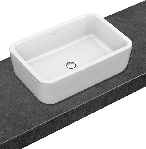 villeroy boch bathroom sink architectura surface mounted washbasin rectangular