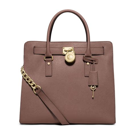 Michael Kors michael kors hamilton large saffiano leather tote in brown dusty lyst