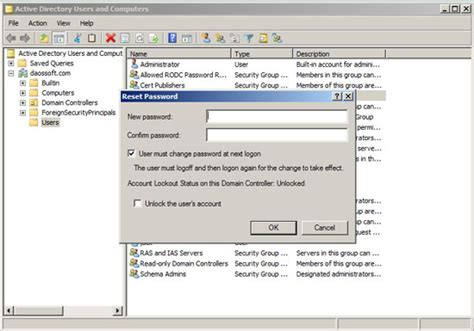 windows 2008 r2 password reset reset administrator user password on windows server 2008 r2