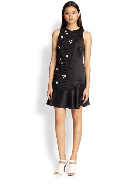 Phillip Lim Black Ghw 1 3 1 phillip lim embellished silk organza dress in black lyst