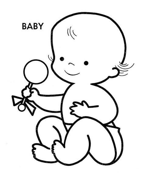 Baby Coloring Pages Free Download Best Baby Coloring Pages On Clipartmag Com Coloring Pages For Babies