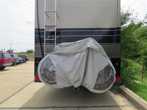 bike covers for bike racks classic accessories deluxe 3 bike cover for rv hitch