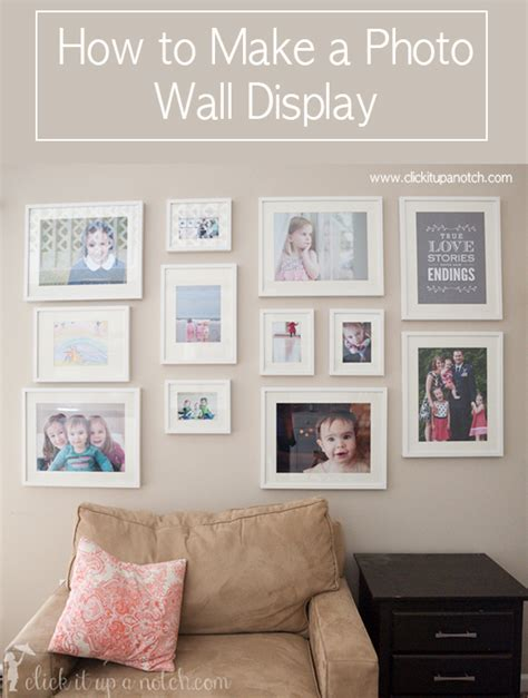 how to display photos on wall how to make a photo wall display click it up a notch