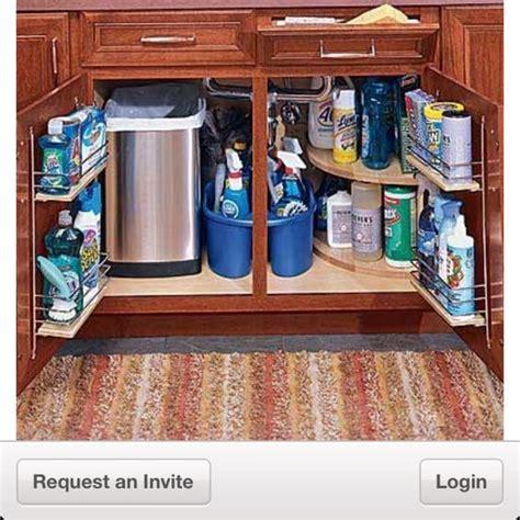 kitchen sink cabinet organizer organizing under the kitchen sink in a small space trash