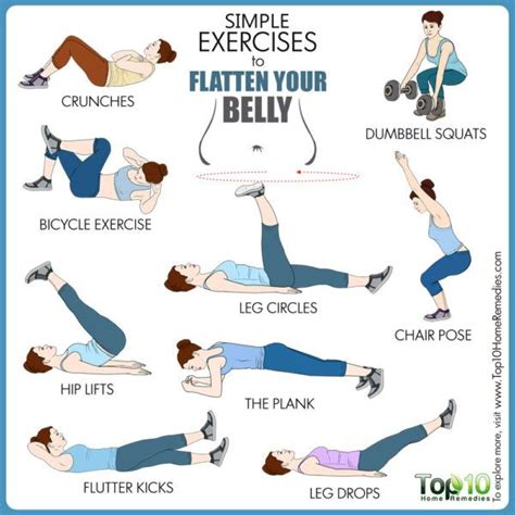 10 simple exercises to flatten your belly top 10 home remedies