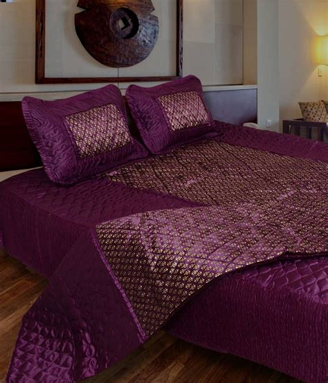 purple satin comforter ooltha chashma purple satin bedding set buy ooltha