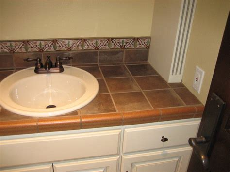 bathroom countertop tile ideas garret home remodel with spanish ceramic tile