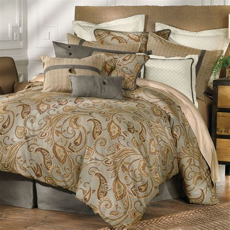Home Decor Turquoise And Brown by Piedmont Paisley Comforter Bedding