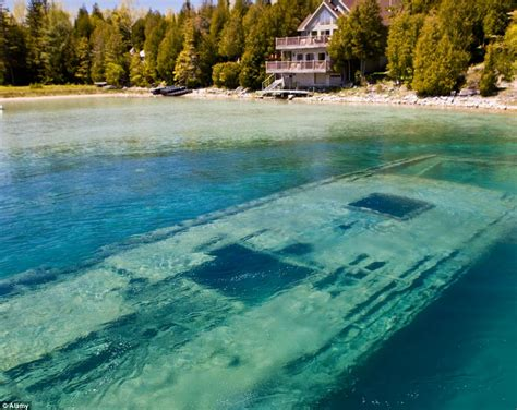 Sweepstakes Tobermory Ontario - world 191 s most beautiful shipwreck haunting hull of sweepstakes lies just twenty feet