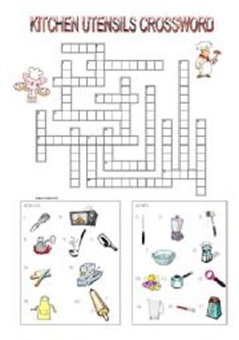 Kitchen Utensil Crossword kitchen utensils equipment worksheets