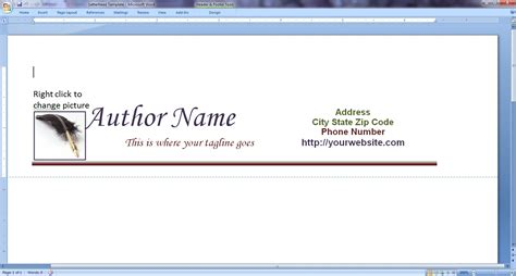 design your own author letterhead to query editors and