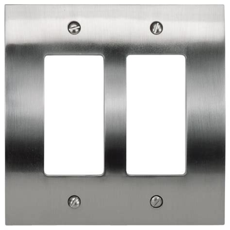 brushed nickel light switch covers brushed nickel zephyr double rocker athphpdrbrn