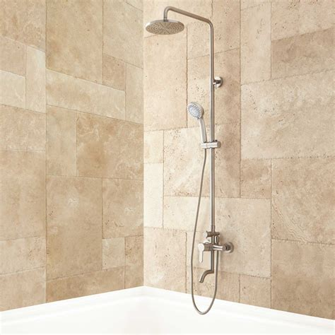 jurado exposed pipe tub and shower set ebay - Tub And Shower Set