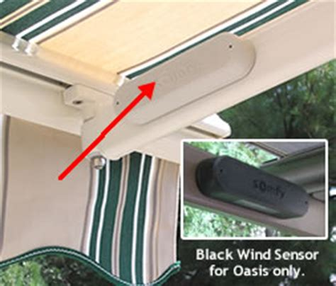 awning wind sensor sunsetter retractable awnings awning accessories
