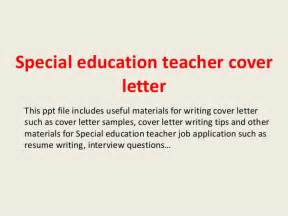 Special Needs Assistant Cover Letter Special Education Cover Letter