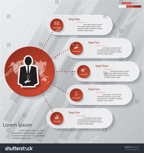 graphic design layout diagrams simple editable 5 steps chart diagrams template graphic or