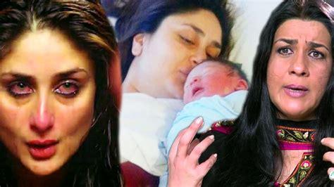 karina kapoor with son pic amrita singh reacts on saif kareena s baby kareena kapoor