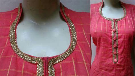 design dress cutting high collar neck diy collar neck cutting and stitching
