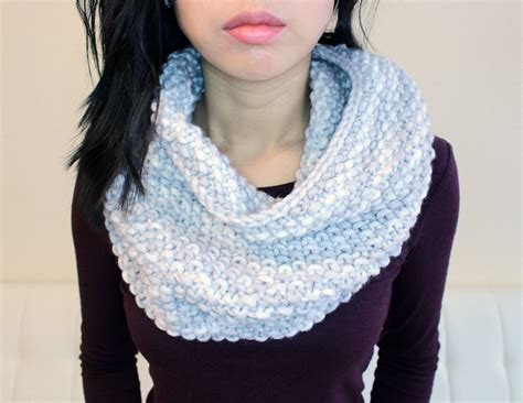 infinity scarf knitting pattern beginners purllin