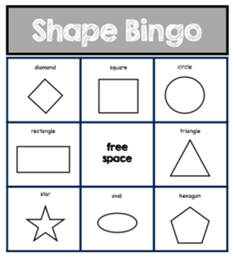 printable bingo cards with shapes simple shape bingo printable pictures to pin on pinterest