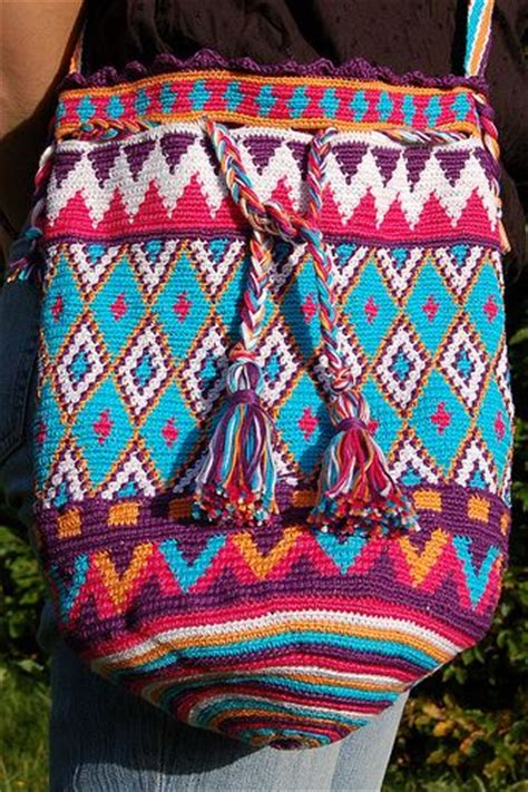 crochet tapestry bag pattern 810 best mochila bags and tapestry crochet images on