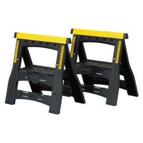 Home Depot Saw Horses by 32 In Adjustable Folding Sawhorses Pack 060622r At
